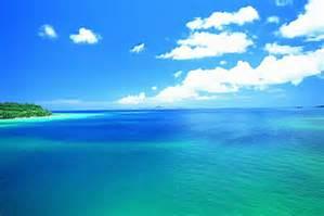 夏の空と海